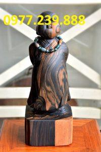tượng gỗ tùy duyên bằng gỗ mun