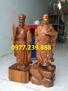 tượng quan công bằng gỗ