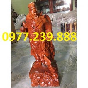 tượng quan công bằng gỗ hương lào