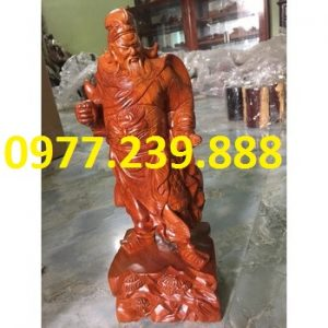 tượng quan công bằng gỗ hương nam phi