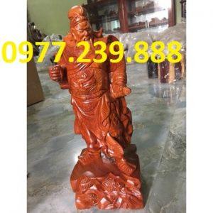 tượng quan công gỗ hương đá