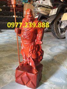 tượng quan công gỗ hương 30cm