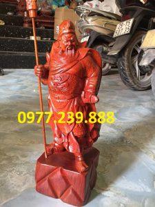 tượng quan công gỗ hương 40cm