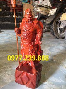 tượng quan công gỗ hương 50cm