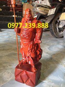 tượng quan công gỗ hương 60cm