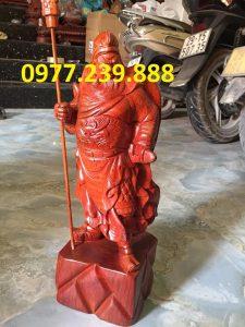 tượng quan công gỗ hương 70cm