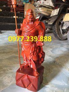 tượng quan công gỗ hương 80cm