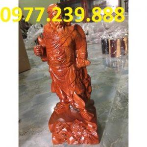 tượng quan công gỗ hương lào