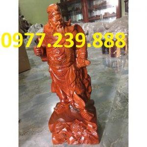 tượng quan công gỗ hương ta