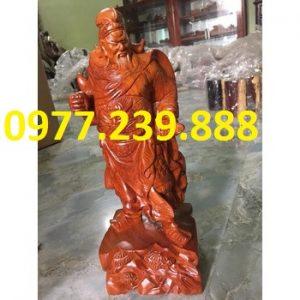 tượng quan công gỗ hương việt