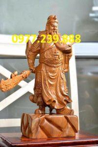 tượng quan công phong thủy gỗ