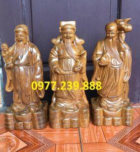 tượng tam đa đầu nhỏ bằng gỗ bách xanh