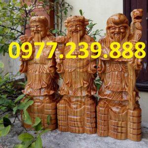 tượng tam đa đầu nhỏ bằng gỗ bách xanh 30cm