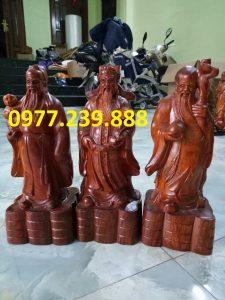 tượng tam đa đầu nhỏ bằng gỗ hương 30cm