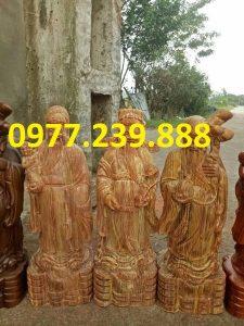 tượng tam đa đầu nhỏ bằng gỗ huyết long