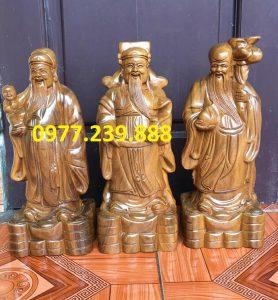 tượng tam đa đầu nhỏ gỗ bách xanh 20cm