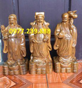 tượng tam đa đầu nhỏ gỗ bách xanh 40cm