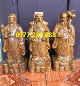 tượng tam đa đầu nhỏ gỗ bách xanh 50cm