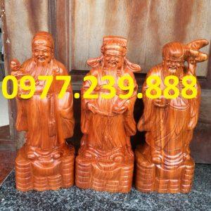 tượng tam đa đầu nhỏ gỗ hương nam phi