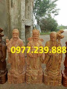 tượng tam đa đầu nhỏ gỗ huyết long 40cm