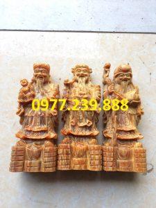 tượng tam đa bằng gỗ huyết long 20cm