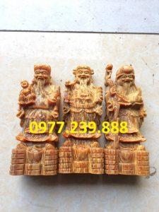 tượng tam đa bằng gỗ huyết long 30cm