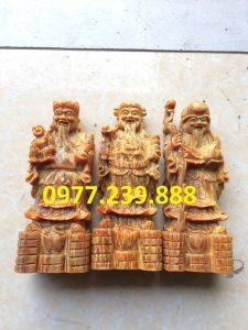 tượng tam đa bằng gỗ huyết long 40cm