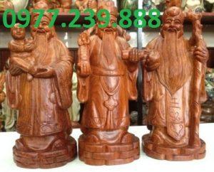 tượng tam đa gỗ bách xanh