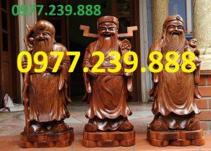 tượng tam đa gỗ hương vân