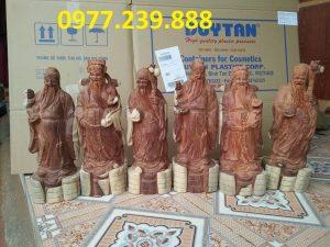 tượng thần tài bằng gỗ hương vân