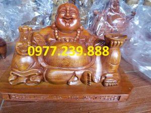 tuong phat di lac xoai bang go huong 15cm