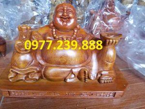 tuong phat di lac xoai bang go huong 30cm