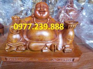 tuong phat di lac xoai bang go huong 40cm