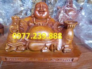 tuong phat di lac xoai bang go huong 60cm