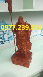 tuong phong thuy quan cong bang go huong 40cm