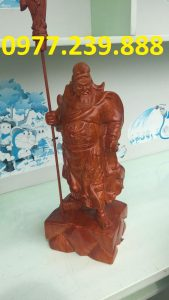 tuong phong thuy quan cong bang go huong 60cm