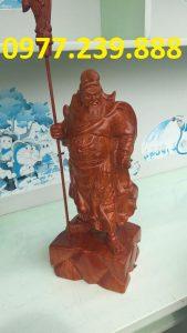 tuong phong thuy quan cong bang go huong 80cm