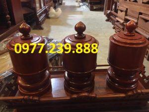 đài nến đồ thờ gỗ mít