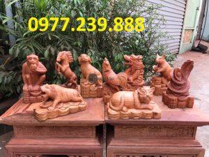 12 con giáp gỗ hương