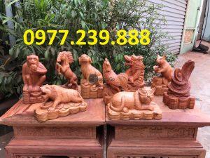 12 con giáp gỗ hương lào