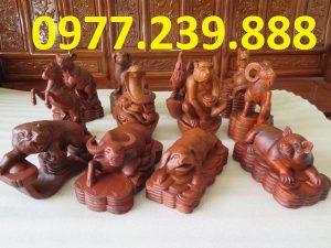 bán 12 con giáp bằng hương đá