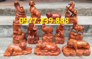 bán bộ tượng con giáp gỗ hương việt
