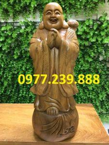 bán di lặc chúc phúc bằng gỗ bách xanh 40cm