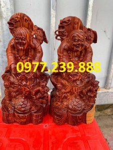 bán di lặc dâng tiền nhị phúc bằng gỗ hương