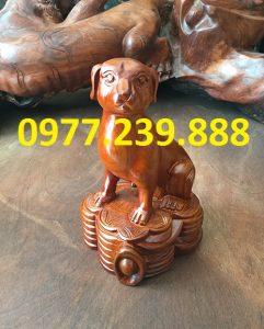 bán tượng chó bằng gỗ