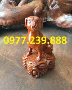 bán tượng chó bằng gỗ hương