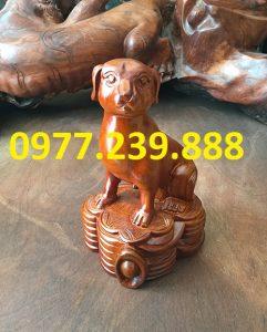 bán tượng chó bằng gỗ hương ta