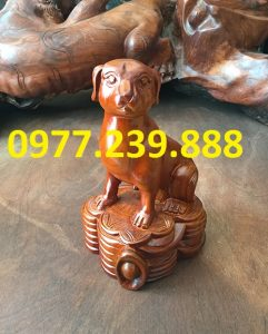 bán tượng chó bằng gỗ hương việt