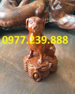 bán tượng chó gỗ hương đá