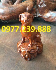 bán tượng chó gỗ hương